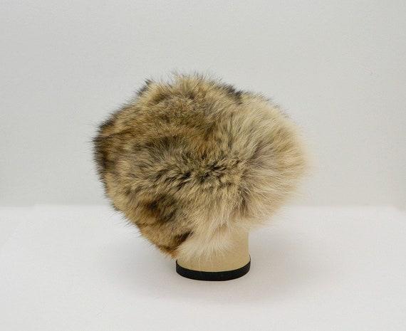 Vintage 1960s Fur Hat ... Tan, Brown, Black Racco… - image 6