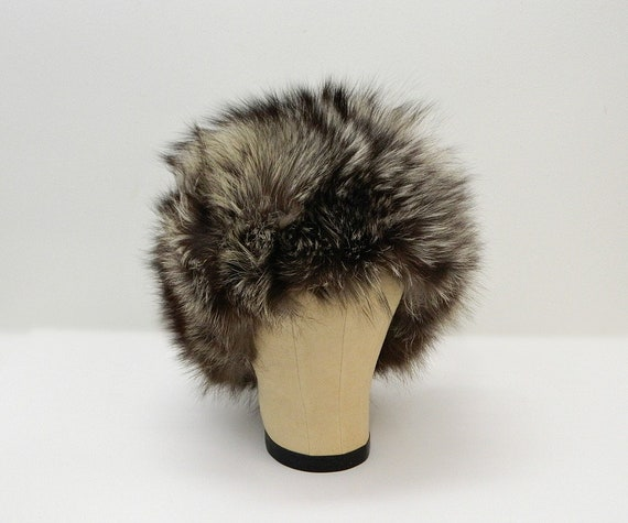 Vintage 60s Fur Hat  ...  Raccoon or Badger Fur Co