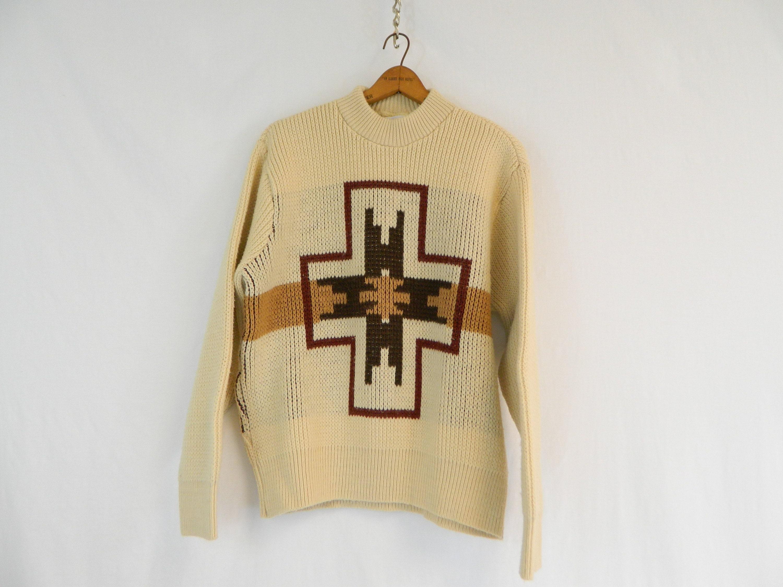 1960s – 70s Men's Ties | Skinny Ties, Slim Ties Vintage Aztec Themed Orlan Acrylic Sweater  1960S Mens Pullover Southwest Size Medium $0.00 AT vintagedancer.com