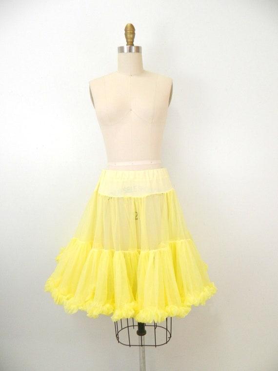 1950's Crinoline...Canary Yellow Crinoline Slip...