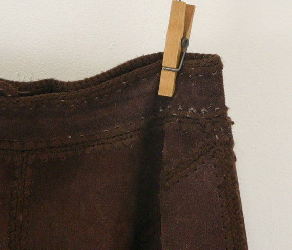Vintage Suede Gaucho Pants & Vest ... Chocolate B… - image 8