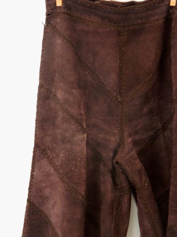 Vintage Suede Gaucho Pants & Vest ... Chocolate B… - image 7