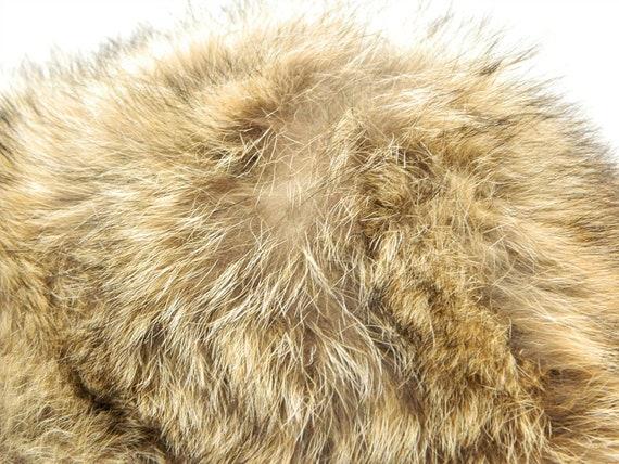 Vintage 1960s Fur Hat ... Tan, Brown, Black Racco… - image 7