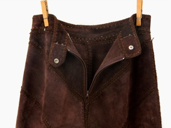 Vintage Suede Gaucho Pants & Vest ... Chocolate B… - image 5