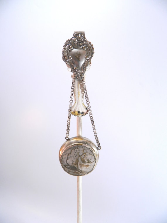 Victorian Chatelaine With Snuff / Pill Box ... Sil