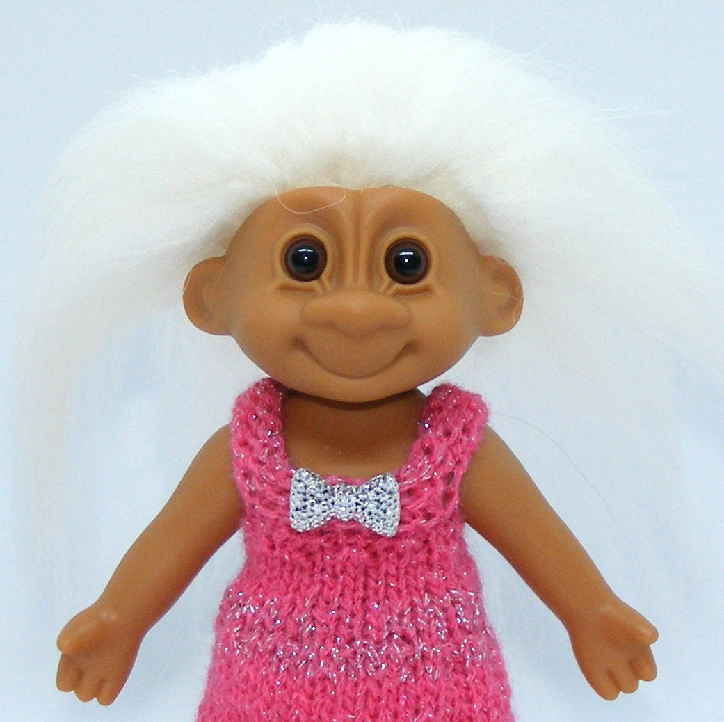 c1f1682c08f01 Russ Tracey Troll Doll, Orig Eyes, New Icelandic Sheep Hair, Dress, Cap,  Panties Buy 3 items and get Free Shipping