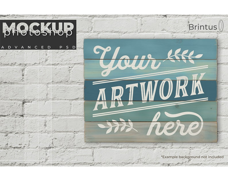 Wood sign mockup  choose one or more planks to create a image 0