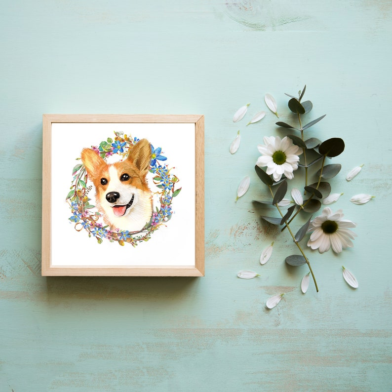 15561ab1a939d Digital Custom Pet Portrait/ Custom Dog Portrait/Custom Cat Portrait/  Christmas Gift Ideas/ Gifts for Her/ Gifts for Pet/ Birthday Gifts P02