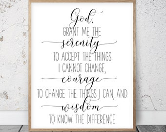graphic about Serenity Prayer Printable named Serenity prayer Etsy