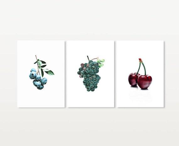 Stampe Arredo Cucina : Stampe bluberry stampabile uva wall decor stampe etsy