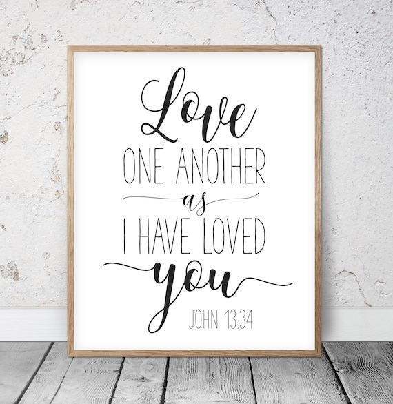Amazing image in love one another printable