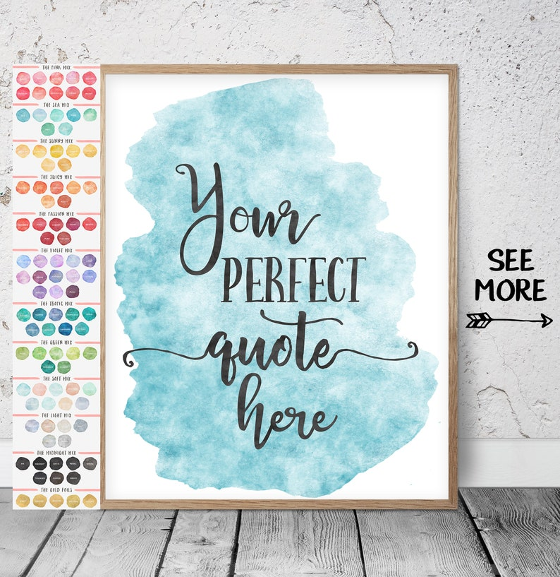 Watercolor Custom Quote Personalized Quote Print Watercolor Custom Print Your Custom Quote Printable Watercolor Quote Poster Custom Word Art