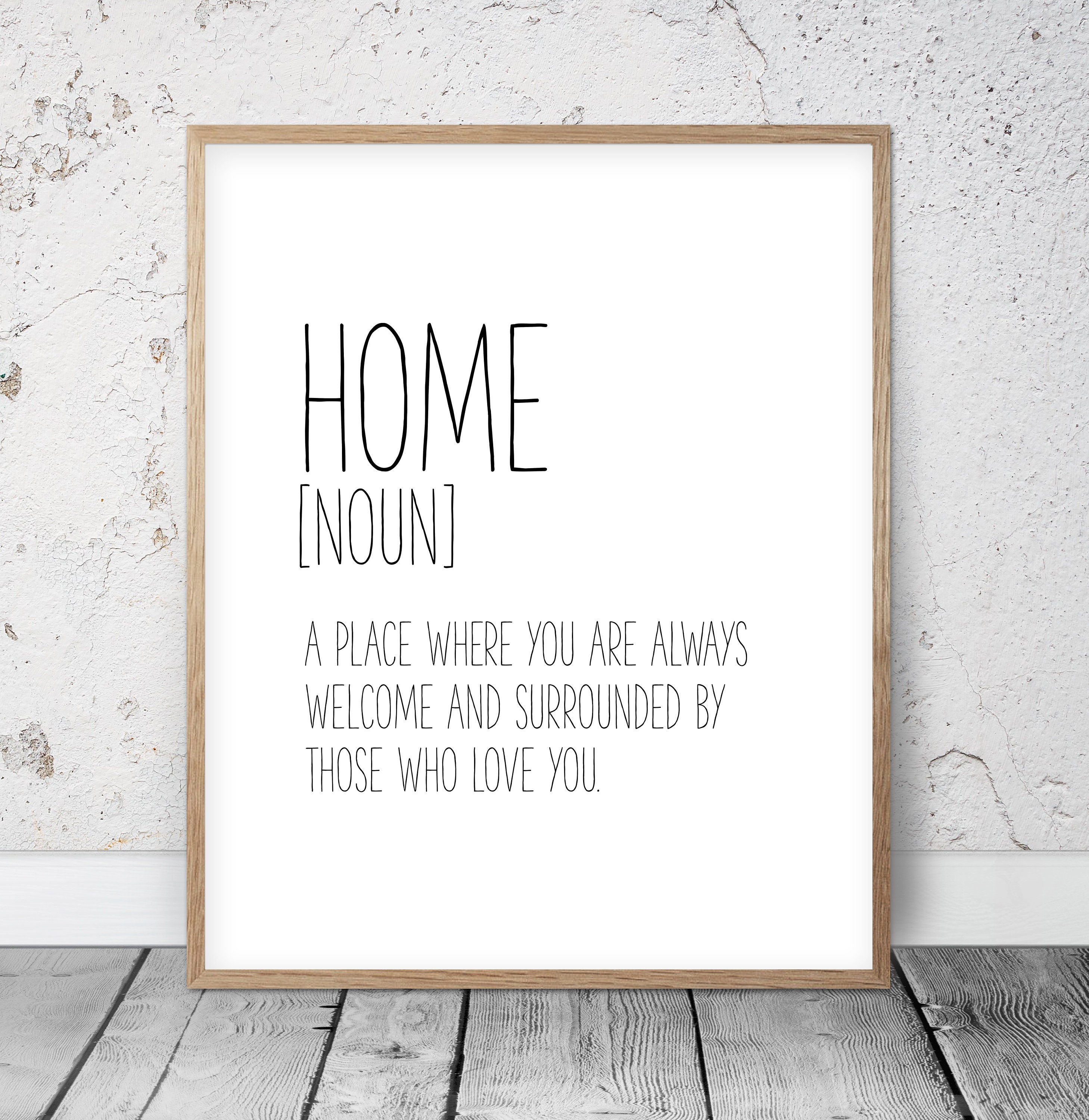 Home Definition Sign Home Decor Wall Art Home Quotes