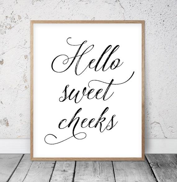Sweet Cheeks Digital A4 or A5 Prints