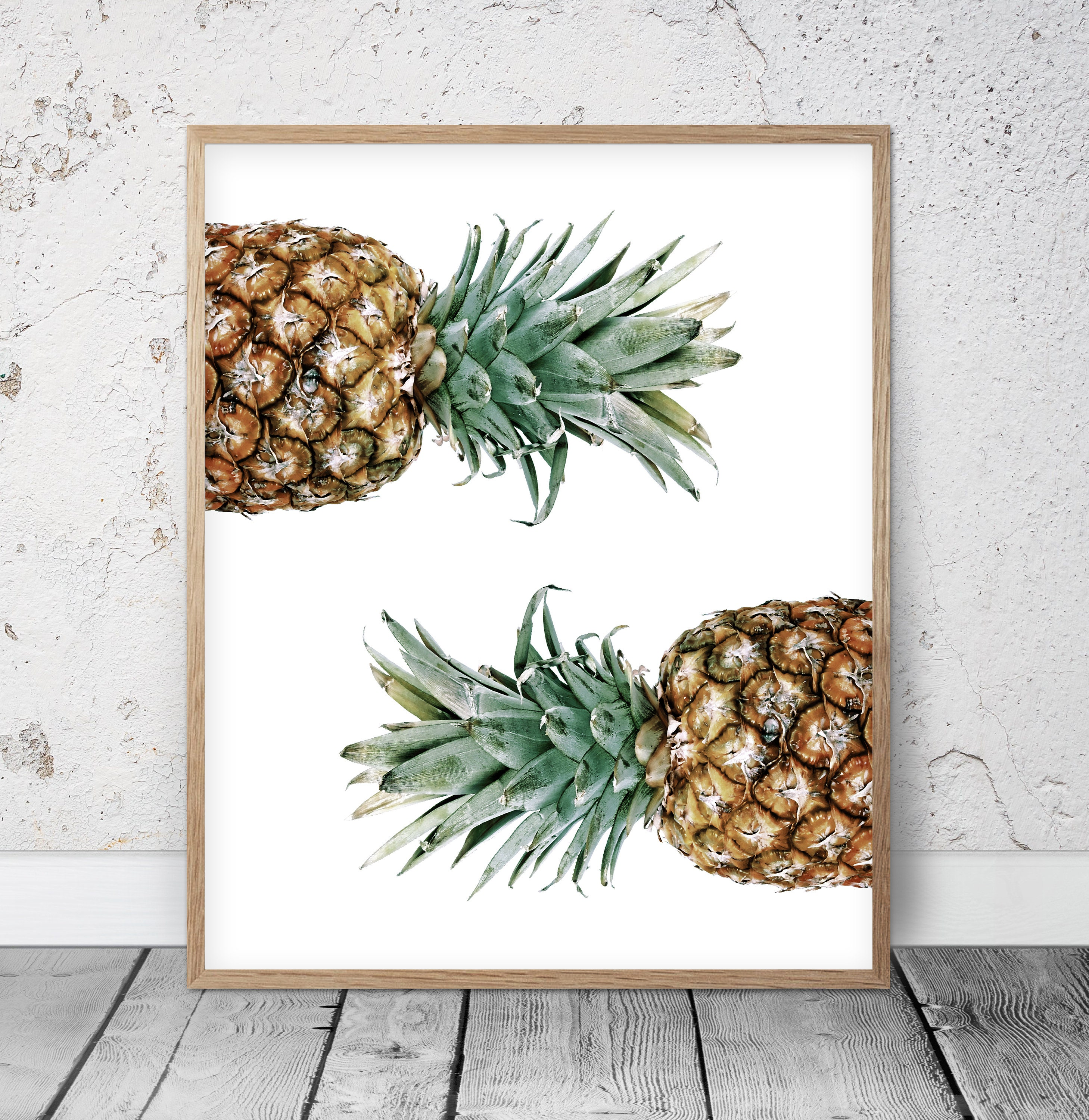 Moderne hübsche Ananas Kunstdruck abstrakte Kunst Home Decor