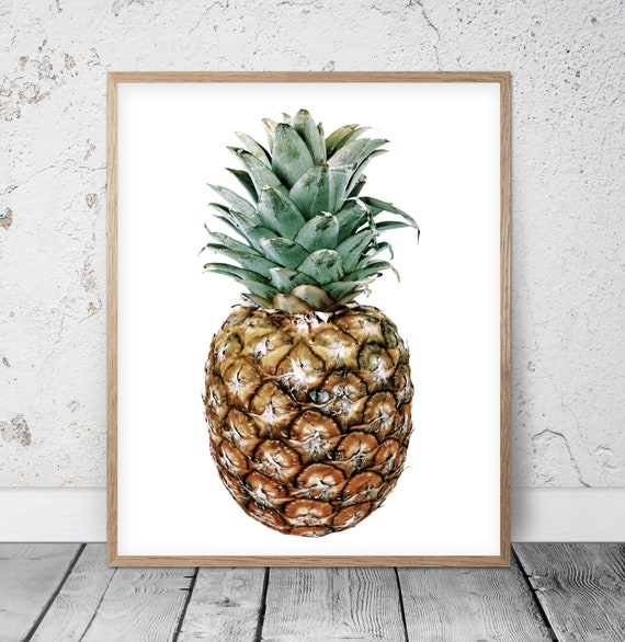 photograph regarding Printable Pineapple titled Printable Pineapple, Tropical Prints, Wall Artwork Decor, Vibrant Prints, Kitchen area Fruit, Pineapple Printable, Revolutionary Mint and Gold Summertime Artwork