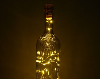 Crown Wine Bottle Battery Operated Light