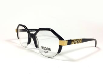 933524d363 Moschino M19 by Persol Vintage Hexagonal Eyeglasses Made in Italy
