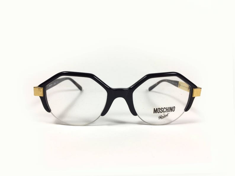 Moschino M19 by Persol Vintage Hexagonal Eyeglasses Made in Italy