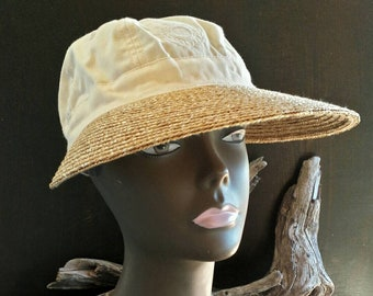 ba99df52239 Liz Claiborne sun hat from the 90 s vintage hats women s sun hat sun cap women s  hats sun visor hat sun Bonnet hat Liz Claiborne unique hats