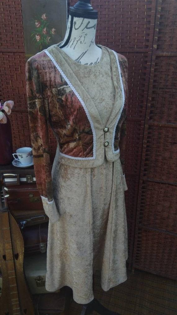 Velvet type Egyptian print dress/women's dresses/c