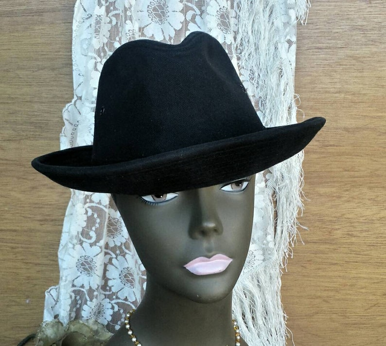 081709e8c Black fedora hat/Dorfman pacific hat/vintage fedora/men's and women's  hats/vintage hats/costumes/costume hat/Halloween/fedora/men's fedora