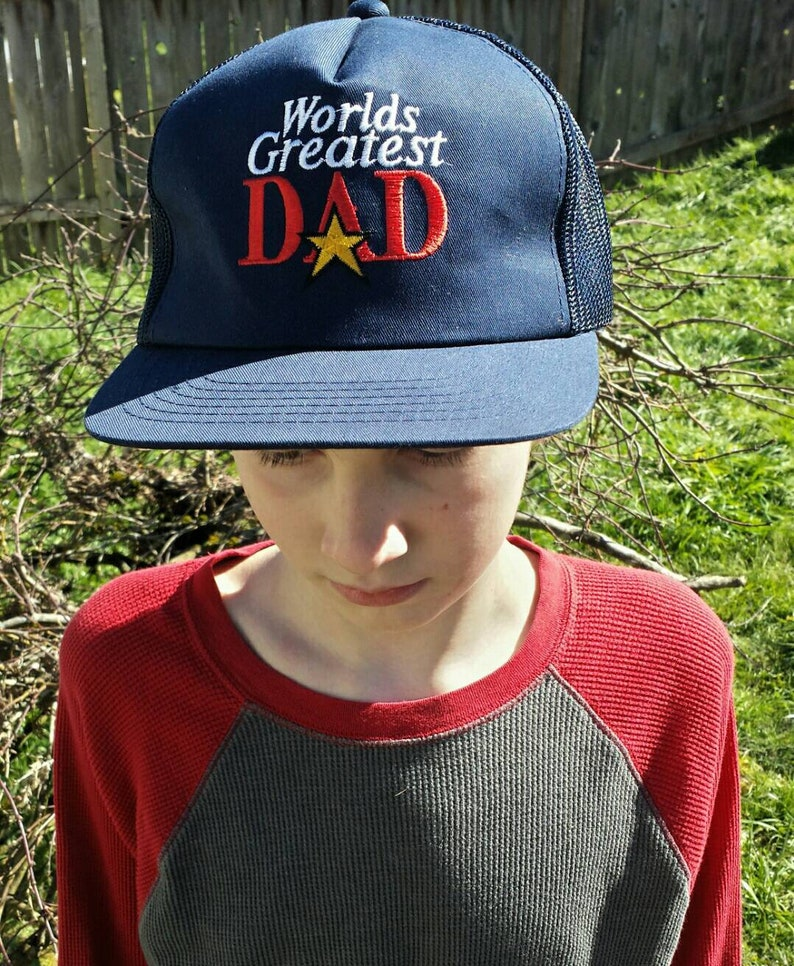 13788856b World's greatest dad trucker hat/vintage trucker hat/mens hat/vintage mens  hat/worlds greatest dad hat/fathers day gift/gifts for dad