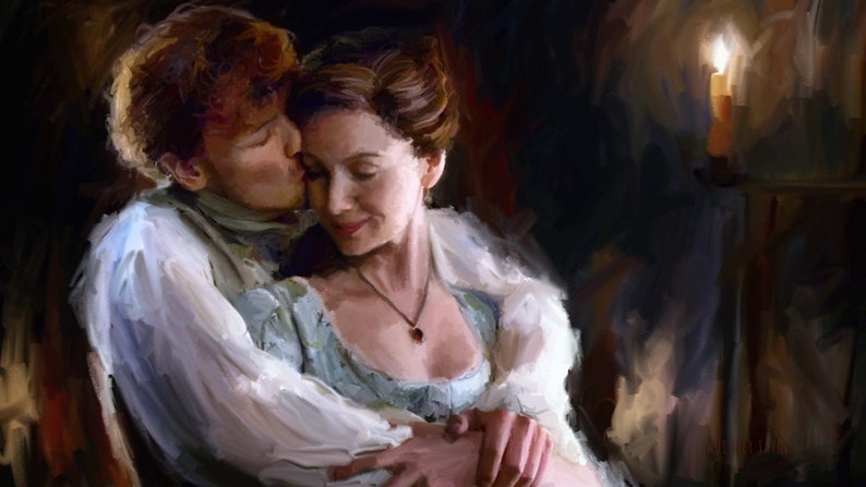 Claire and Jamie kind of love  romantic wall art true love image 0