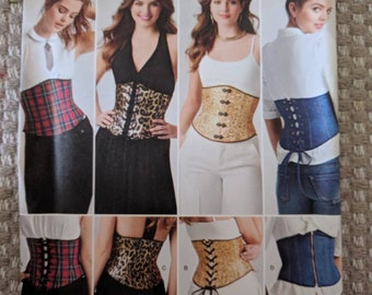 b1f11339fef Simplicity 8129 waist corset lace up plus size 14 16 18 20 22 fun cosplay  sexy
