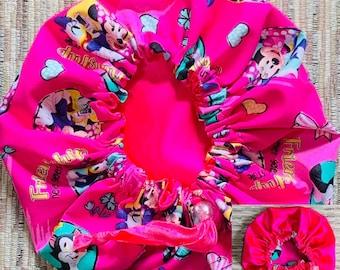 f798d56d10166 Disney Minnie Mouse Hair Bonnet Satin Hair Bonnet Girls bonnet , Reversible  bonnet,Kids reversible bonnets,Baby bonnet