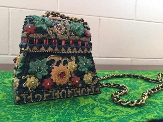 Unique Vintage 1980s Evening Bag