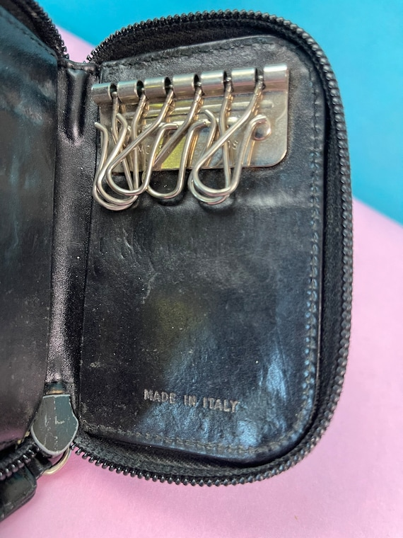 Vintage 1990s Black Leather Key Fob By Prada - image 6