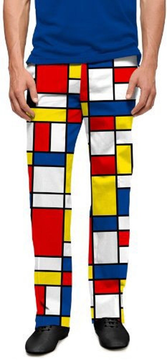 Mod Modrian Composition C Pants by Loudmouth Golf