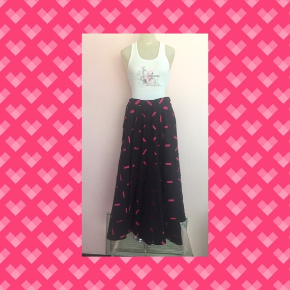 Vintage 1980s Does 1950s Circle Skirt