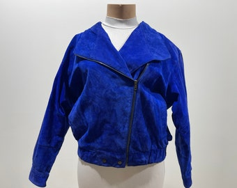 Vintage 80s Womens Suede Oversized Jacket