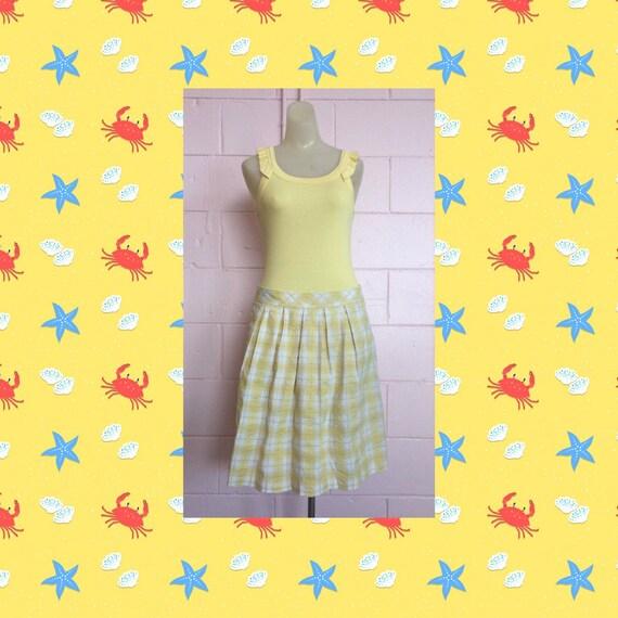 Lilly Pulitzer Seersucker Plaid Skirt