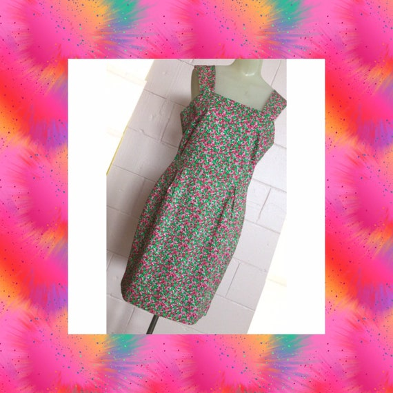 Vintage 1980s Lilly Pulitzer White Label Ditzy Flo