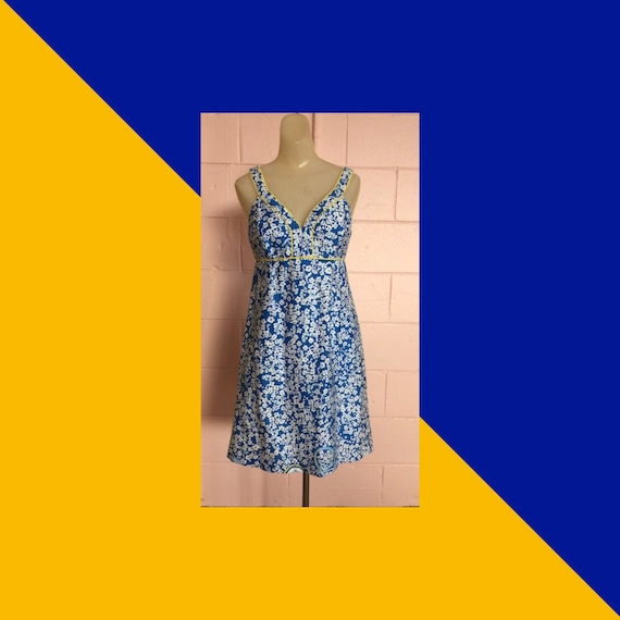 Cute Lilly Pulitzer Ditzy Daisy Print Halter Dress
