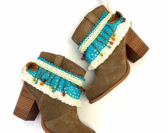 boot sleeves boot cuff boot jewelry Boot cover Boot accessories adjustable for any boot or bootie.