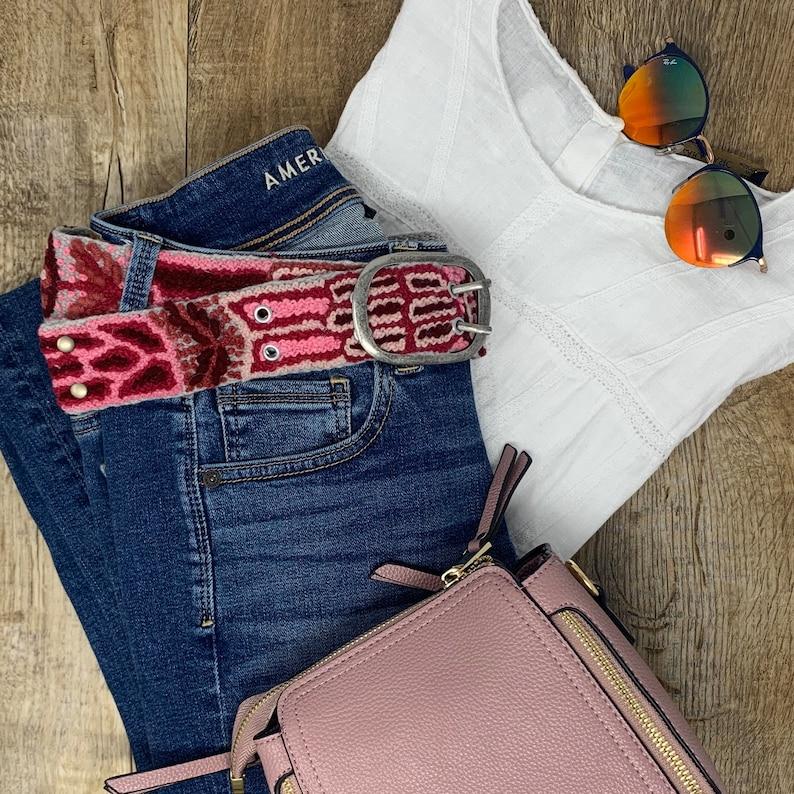 Berries Wool Belt Women belt Peruvian embroidered belt Woven belt Floral belt Gifts for her Wool Embroidered belt. Wool Belt