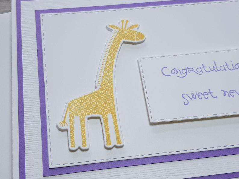 Gender Neutral Newborn Greeting Card. Unisex Baby Congratulations Card