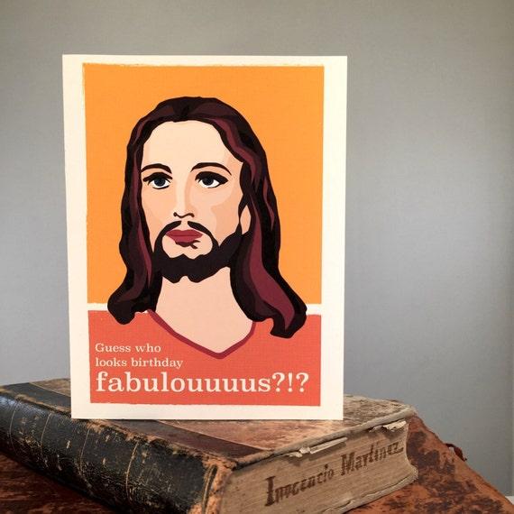 Set Of 8 Funny Jesus Birthday Card Fabulous
