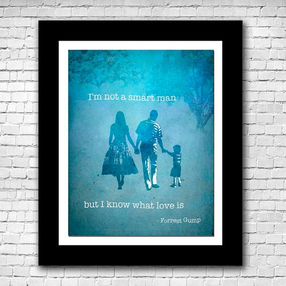 Forrest Gump And Jenny Quote Abstract Watercolor Printable