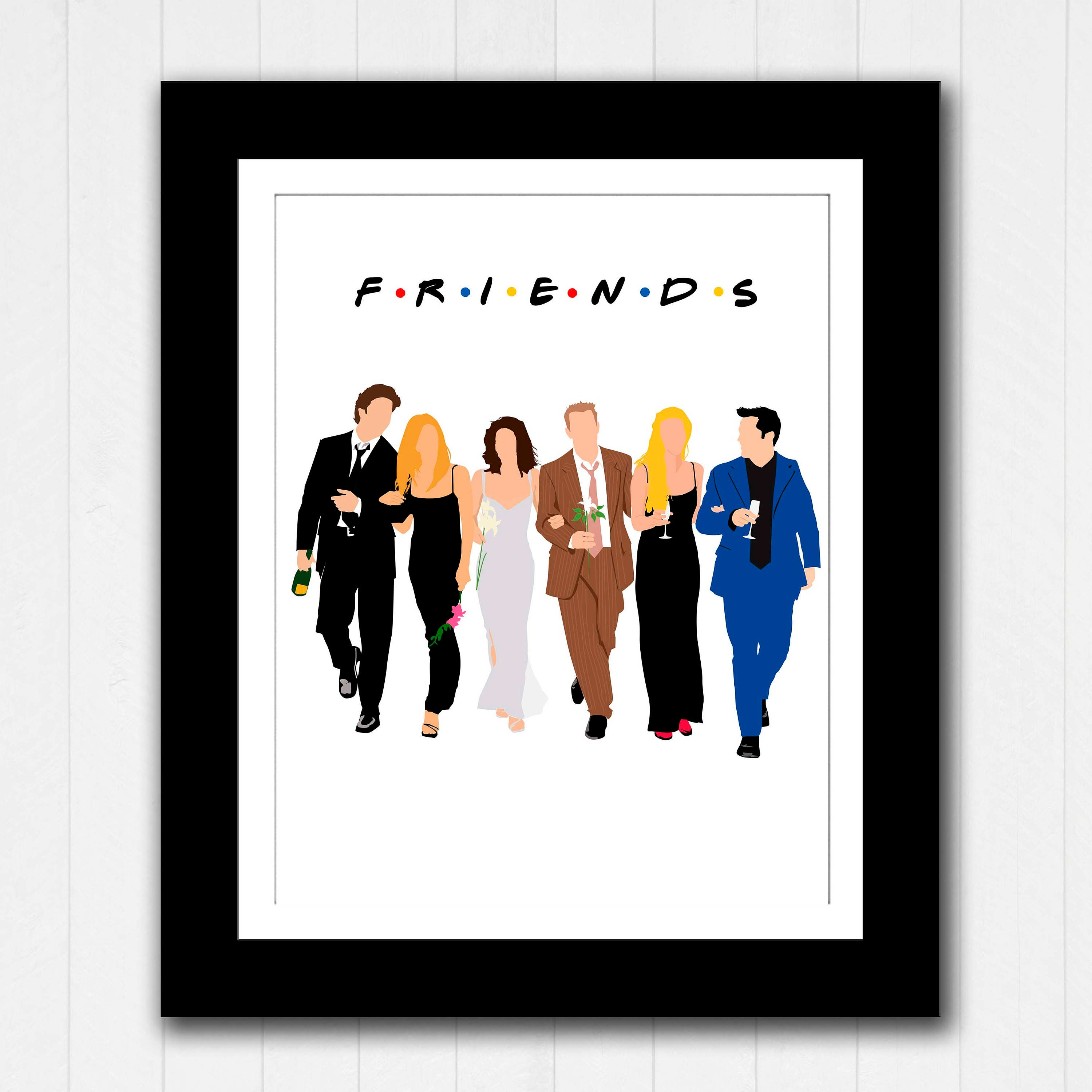 Tv Show Poster Friends American Drama Movie Vintage: Friends TV Show Reunion Minimalist Poster Instant Download