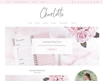 Wordpress Theme Responsive Charlotte - Genesis Child Theme - Instagram Landing - Wordpress Blog - Blog Design - Ecommerce