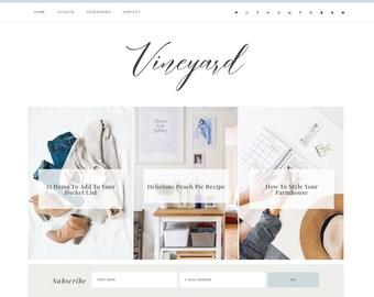 Wordpress Theme Responsive Vineyard - Genesis Child Theme - Wordpress Template - Wordpress Blog - Blog Design - Ecommerce