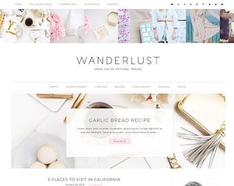 Responsive Wordpress Theme Wanderlust - Genesis Child Theme - Wordpress Template - Wordpress Blog - Blog Design