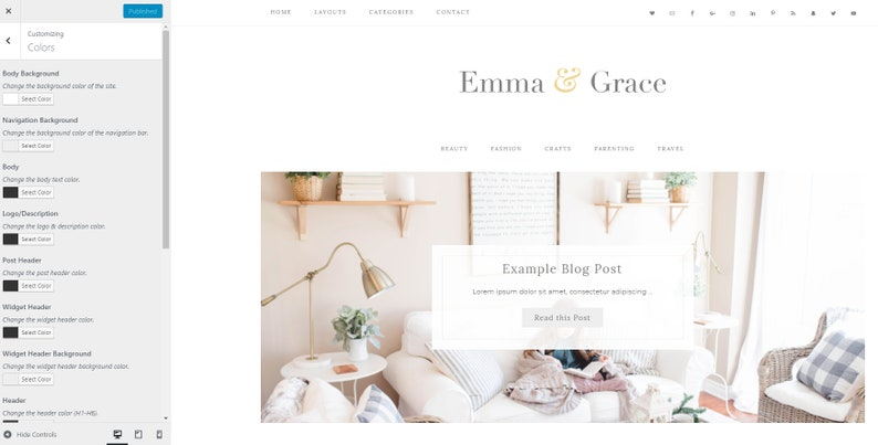 Blog Design Wordpress Template Genesis Child Theme Wordpress Theme Responsive Emma Grace Ecommerce Wordpress Blog