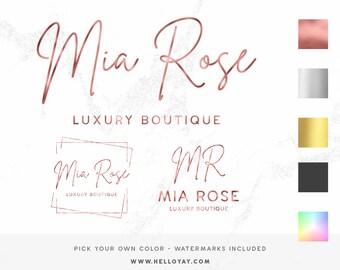 Logo Design, Business Logo Package, Photography Branding Kit Logo Design, Premade Logo Design, Watercolor Lash Logo, Boutique Shop Branding