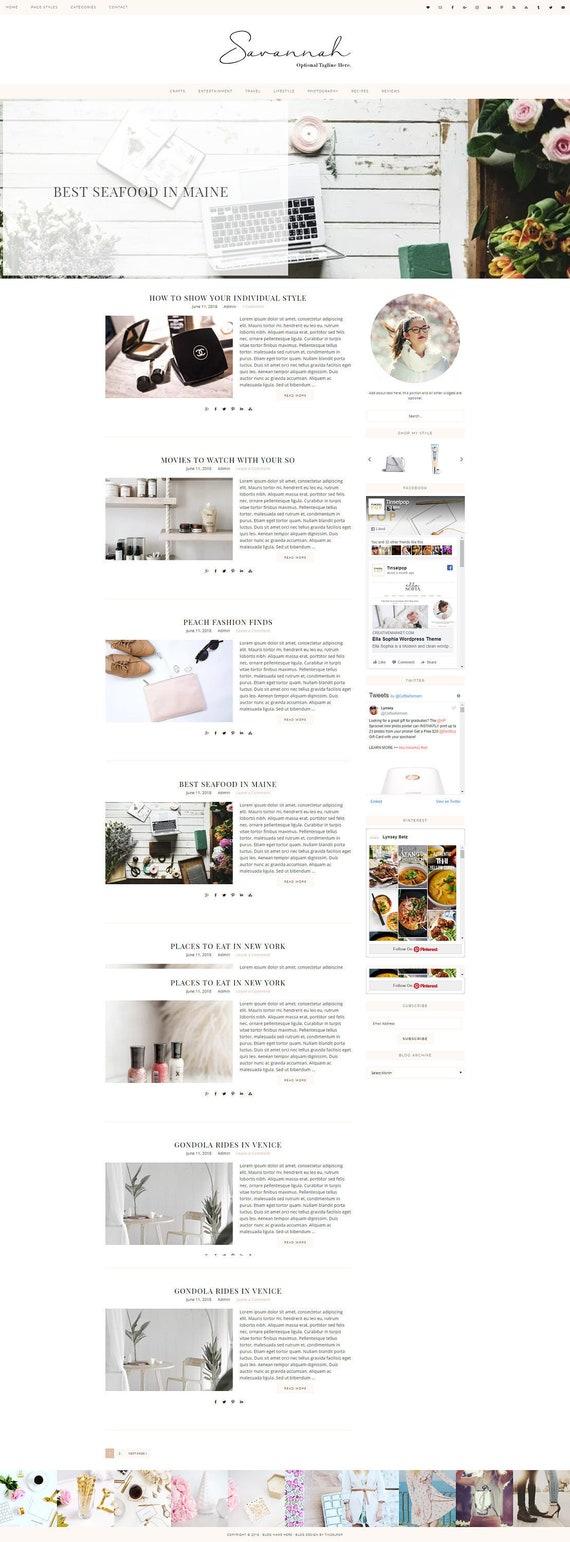 Responsive Wordpress Theme Savannah Genesis Child Theme Wordpress Template Wordpress Blog Blog Design